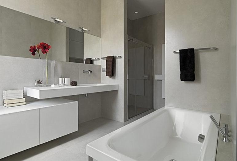 cambiar bañera por ducha con arte en baño