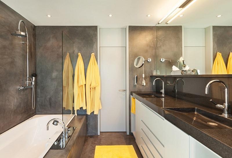 suelos de madera en baños