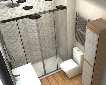 diseño de baños 3D en coslada
