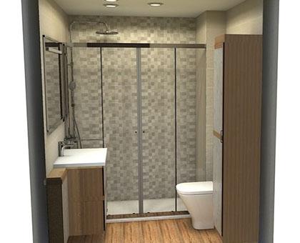 diseño de baños 3D en Madrid