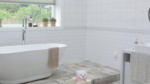 quitar el moho del baño